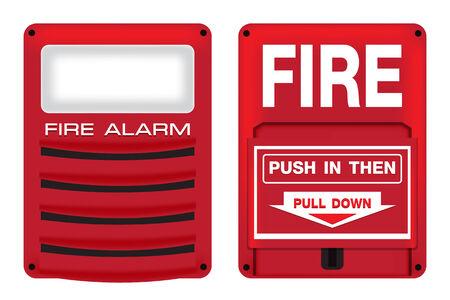 Fire Alarm Safety Set Illustration