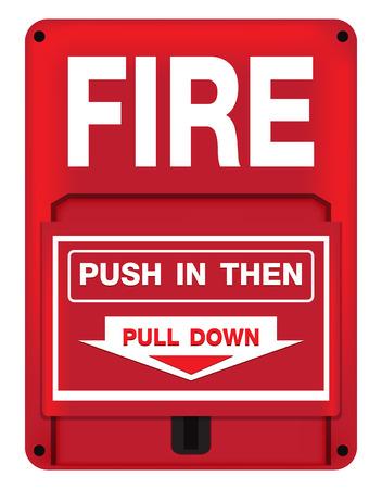 Brandalarm Safety Vector Illustratie