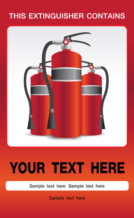 fire extinguisher symbol: Fire Extinguisher Safety Background