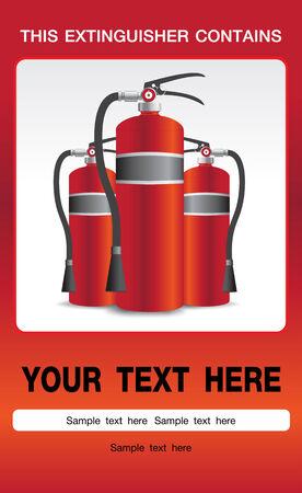 Fire Extinguisher Safety Background