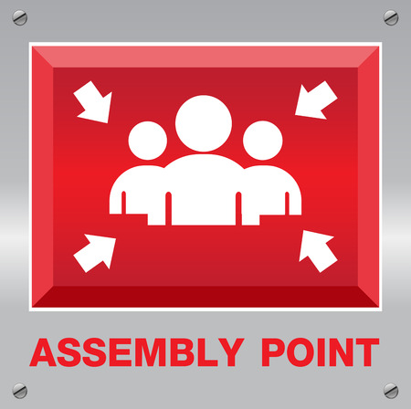 assembly point: Fire Assembly Point Sign Illustration