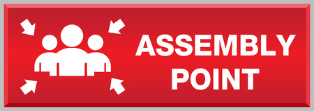 fire extinguisher symbol: Fire Assembly Point Sign Illustration