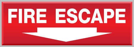 escape:  Fire Escape Sign