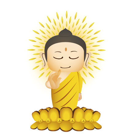 Buddha Cartoon Vector