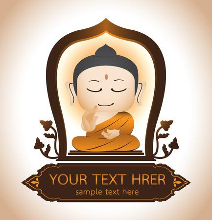 moine: Bouddha Thaïlande Art Vecteur