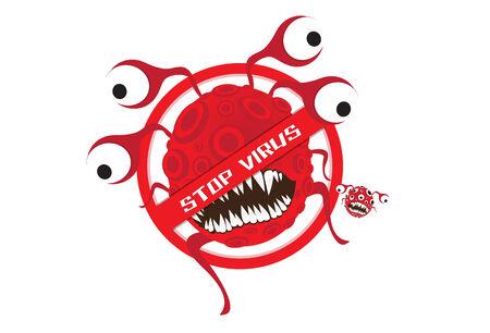 virus:  Stop Virus Illustration
