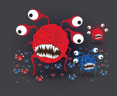virus:  Virus Cartoon Character