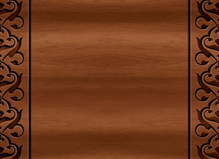 polished: beautiful wood carving texture