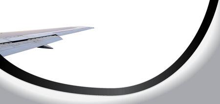 Window Airplane Withe Background Banco de Imagens