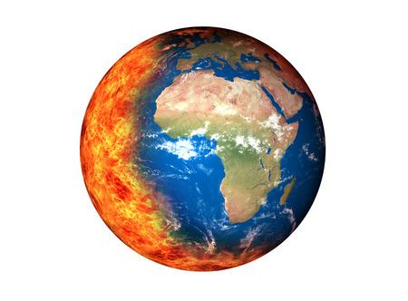 地球温暖化 (NASA から提供された要素)