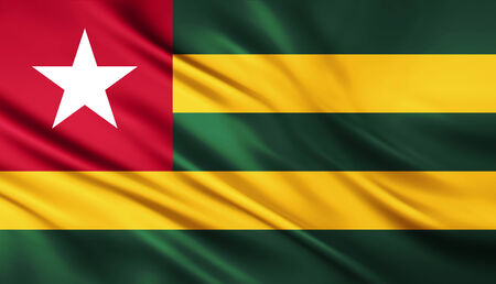The National Flag of the Togo photo