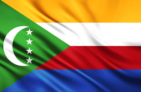 The National Flag of the Union of Comoros photo