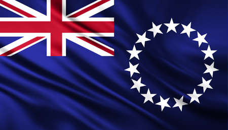 The National Flag of the Cook Islands photo