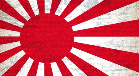 imperialism: Japan Old Flag Art Background
