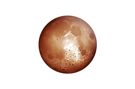 Blood Moon on White Background photo