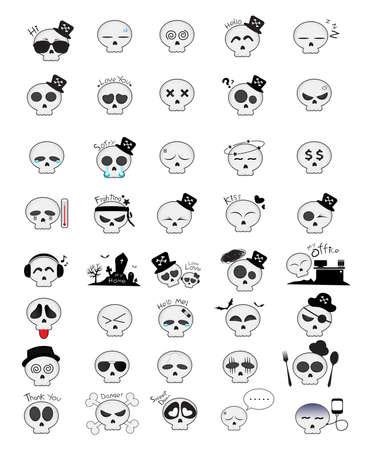 big size: Halloween Skull Emotion
