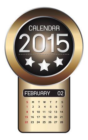 February calendar 2015 Fiber Background Vector