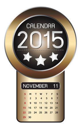 November calendar 2015 Fiber Background Vector