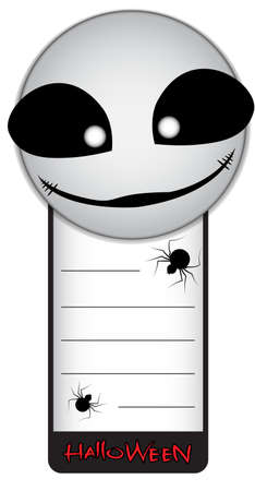 big size: Halloween Tag Vector Background