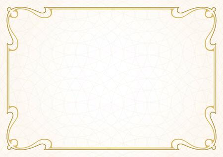 ボーダー VectorTemplate  イラスト・ベクター素材