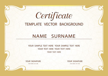 CERTIFICATE OF COMPLETION TEMPLATE Royalty Free Cliparts Vectors