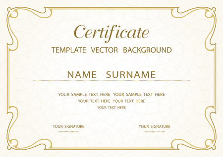 Certificate background royalty free cliparts vectors and stock certificate of completion template vector yadclub Image collections