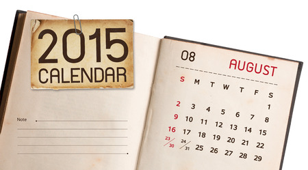 Old Book Calendar 2015 August