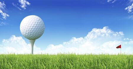 greensward: i love golf Stock Photo