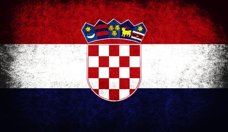 The National Flag of the Croatia photo