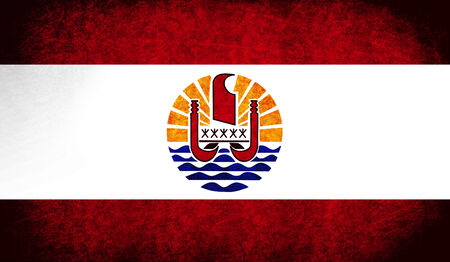 The National Flag of the French Polynesia photo