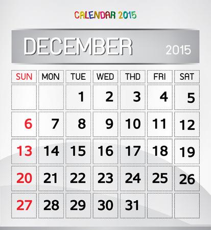 color paper: calendario 2015 Magia del Color de fondo de papel Vectores