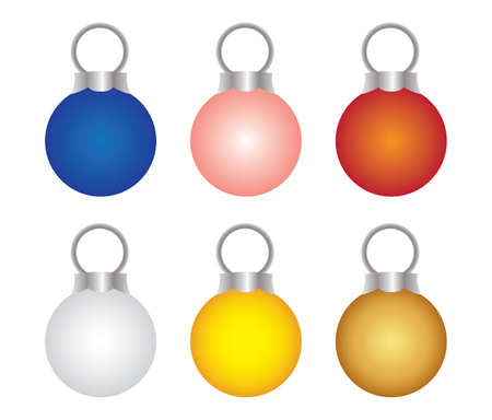 christmas accessories: Accessories Christmas Day Illustration