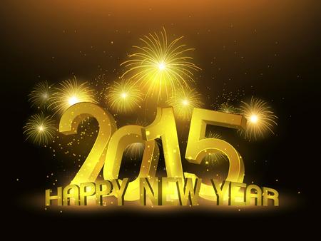 platin: Gl�ckliches neues Jahr 2015 Gold Platinum Illustration