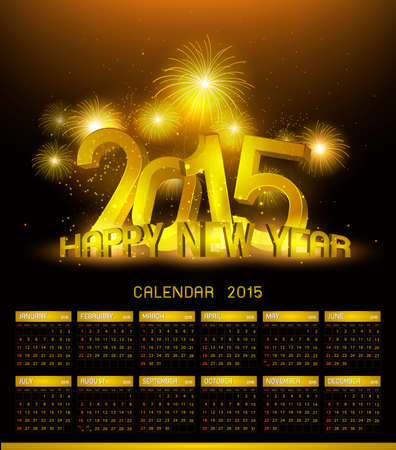 platina: Gold Platinum calendar 2015 and Happy New Year 2015