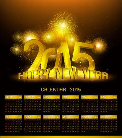 platin: Gold Platinum Kalender 2015 und gl�ckliches neues Jahr 2015