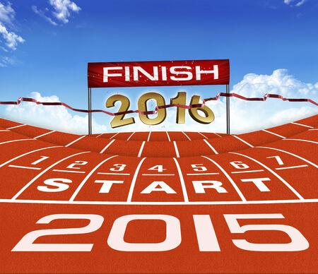 objectivity: Happy New Yera 2015  Running Background