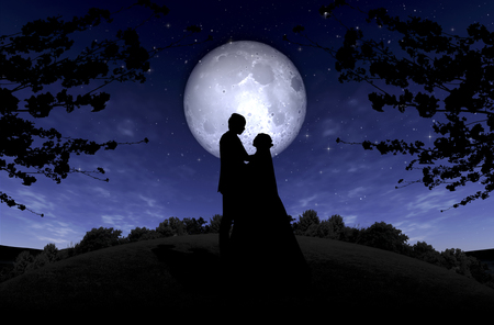 marriage night: Time of Dream Images Stock Photo