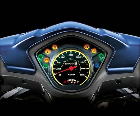 miles: motorcycle speedometer Stock Photo