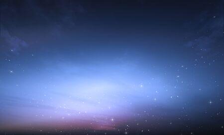 melkachtige melkweg met sterren en nachthemel