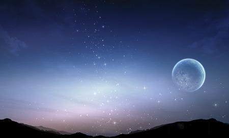 star bright: galaxia V�a L�ctea con estrellas y cielo nocturno