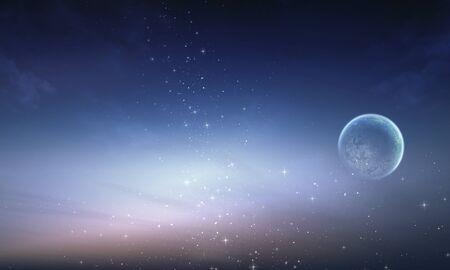 星と夜空の天の川銀河