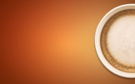jaunty: taza de caf� con fondo naranja abstracto