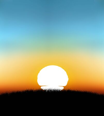 01: sunset with gradient background 01