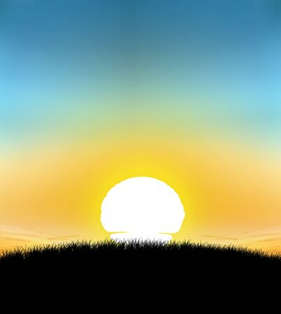 backkground: sunset with gradient background 01