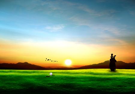 drive golf sport illustration