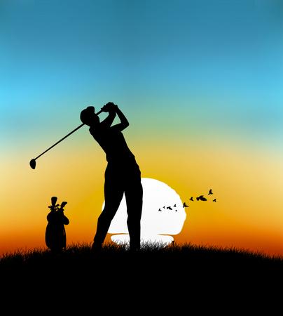rijden golfsport illustratie