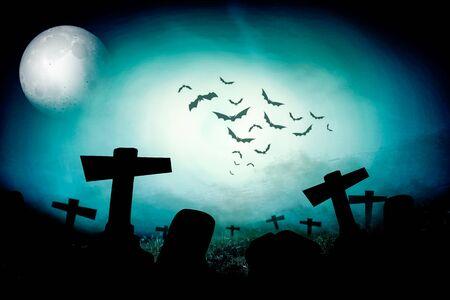 churchyard: Cemetery night