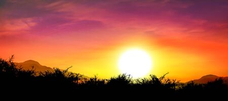 backkground: beautiful sky and sunset Stock Photo
