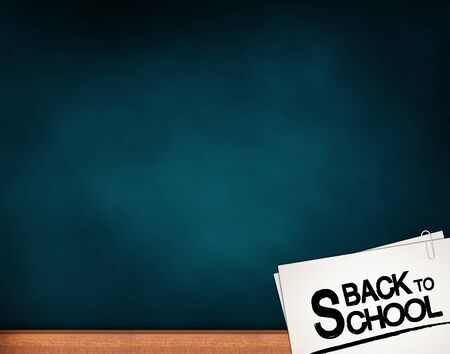 classes schedule: back to school with Writing on a chalkboard Stock Photo