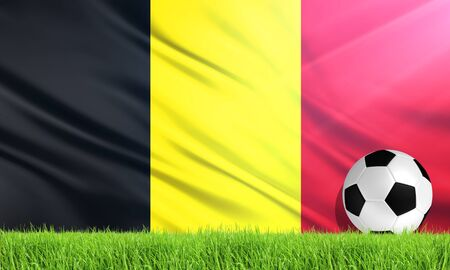 belgium: The National Flag of Belgium Stock Photo